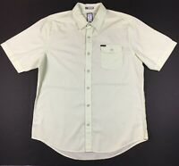 Billabong Men's Short Sleeve Button Down Shirt Light Green EUC Size Large