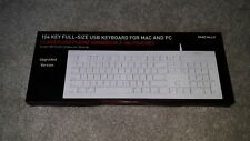 Macally Full Size USB Wired Keyboard- Easy Slim XS-108 And Micro Q Cube Lot Of 3