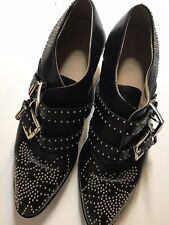 Authentic Chloe Suzanna Stud Ankle Black With Silver Accent Booties Sz 37