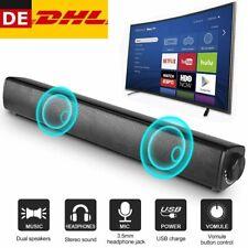 USB Stereo Soundbar 3D Subwoofer TV Lautsprecher Audio Musikbox für Heimkino NEU