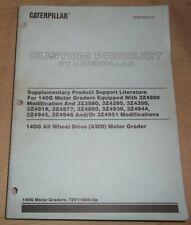 Cat Caterpillar 140g Motor Grader Supplementary Service Shop Repair Manual Book