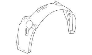 Genuine GM Fender Splash Shield 15286087