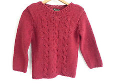 Abercrombie &Fitch Wool Sweater Size S 3/4 Sleeve Burgundy Tone