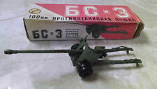 Vintage Russian WWII Metal Army Tank Toy w/ Original Box GC - 3 M1:43
