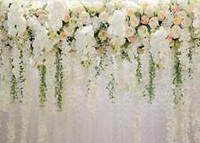 White 3D ROSE Floral Photo Backdrops Bridal Shower LARGE Wedding Flowers Wall Ba