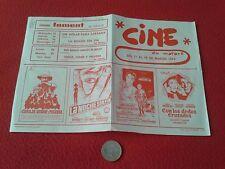 FOLLETO DE CINE O SIMILAR PROGRAMACIÓN EN MATARÓ 1974. CINEMA FOMENT, NURIA, VER
