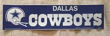 1974 VINTAGE NFL Dallas Cowboys Football Bumper Sticker - UNUSED