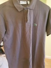 Lacoste Pique Polo, Brown Size Small/3 New With Tags