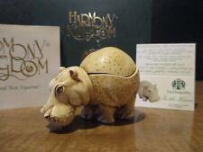 Harmony Kingdom In The Know Hippo Interchangeable Uk Made Box Figurine