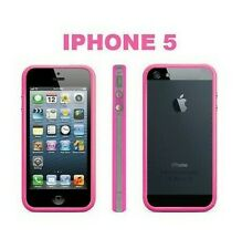 BUMPER TPU SHELL HIGH RANGE BUTTON METAL MOXIE IPHONE 5 5S 5SE PINK