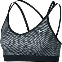 New Nike Strappy Light Support Sports Bra Crossfit Gym Solid Running Sz XS