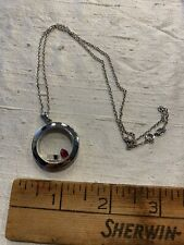Sterling Silver Memory Keeper Necklace Cell Phone  Heart Floating Charms JQ-34