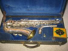 "Very nice old German Alto saxophone  ""Oscar Adler Sonora"" w. golden bell!"