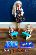Vintage Barbie Elementary School Classroom Teacher Kelly Tommy Desks