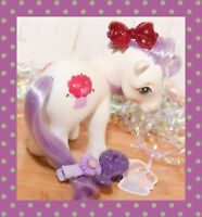 ❤️My Little Pony MLP G1 Vtg Magic Message Magic Hat 1983 White Purple Hair❤️