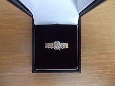 Unusual 14ct Gold 0.80 Carat Diamond Ring Size L 1/2