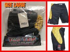 TOP TEN MMA Shorts Black / Yellow (Model 1872-2) Size L NWT