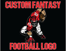 "Fantasy Football Logo Design for your Team or League with Custom 5"" Decal"