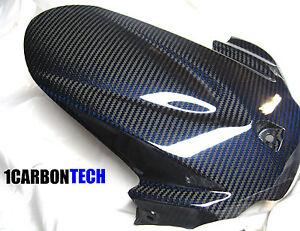 2011-2012-2020 SUZUKI GSXR 600 750 CARBON FIBER REAR FENDER HUGGER BLUE HYBRID