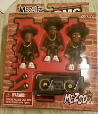 Run-DMC Mezco Mez-Itz toy figures 2002. Black Tracksuits. NIB. 80s hip hop DJ