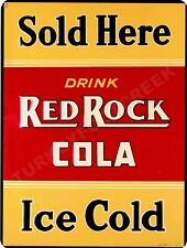 "RED ROCK COLA SOLD HERE  9"" x 12"" Sign"