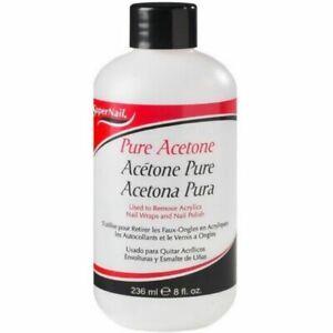 Acetona Pura Para Quitar Uñas De Gel UV 8 Oz Quitaesmalte Removedor Esmalte New