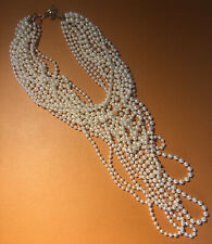 Vintage Pearl Necklace 14 Strands Of Pearls