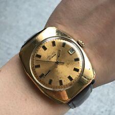 Gold Plated Soviet Watch POLJOT Automatic Date USSR Analog SERVICED Luxury 18k