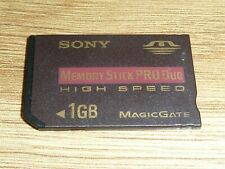 1GB SONY MEMORY STICK PRO DUO CARD PLAYSTATION PSP MS 1 GB MagicGate High Speed