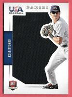 2015 Cole Stobbe Panini USA Baseball Rookie Jumbo Jersey 46/49 - Phillies