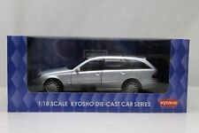 Kyosho Mercedes Benz E-Class Wagon Silver 1:18 Scale Model Car New 09004TS