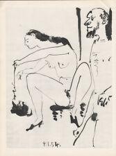 PABLO PICASSO - 4.1.54 - WOMAN EROTIC CAT * HELIOGRAVURE from VERVE 1954 suite