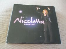 "COFFRET 2 CD + 1 DVD DIGIPACK ""NICOLETTA EN CONCERT"""