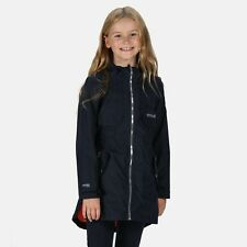 Regatta Kids' Tarana Waterproof Long Length Hooded Jacket Blue