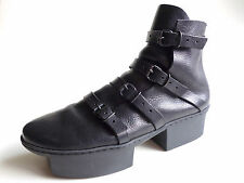 TRIPPEN Germany - Women's Leather Platform BOX Boot WAY f waw black EU40 US9 UK7