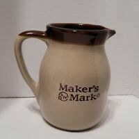 Vintage Makers Mark Bourbon Whiskey Ceramic Logo Water Pitcher Pub Jug