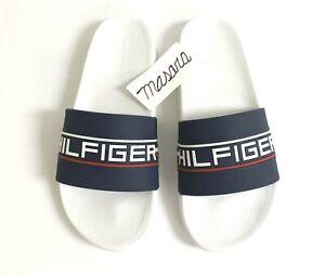 Men Tommy Hilfiger Eevered Slide Sandals Navy Blue