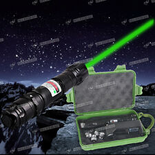 EU Charger+BOX+Powerful Green Laser Pointer Kit Light Pen 1mw 532nm Lazer