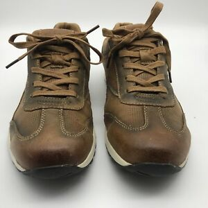 Chatham Casual Trainer Shoes Diego Tan Leather Size UK 9 EUR 43 VGC