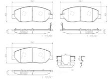 Disc Brake Pad Set-Premium NAO Ceramic OE Equivalent Pad Front Brembo P30036N