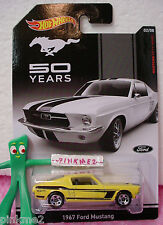 2014 Hot Wheels 50 Years #2 '67 FORD MUSTANG 1967☆Yellow; 5sp☆Walmart Exclusive☆