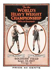 Gene Tunney vs Jack Dempsey *LARGE POSTER* Heavyweight Fight 1927 Boxing Rematch