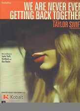 Taylor Swift We Are Never Ever Getting Back Together  US Sheet Music