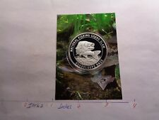GUADELOUPE BASS FISH NATIONAL FISHING GRAND SLAM 999 SILVER COIN INFO CARD #C