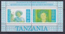 Bloc timbres Tanzanie Reine mère Angleterre Neuf**