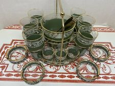 Ultimate 19 Piece MCM Carry All Bar Set Jeanette Glassware Hellenic Original Box