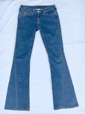 """True Religion Women's 27 Joey Row Seat Boot Cut Flare Jeans RN 112790 Inseam 33"""""""