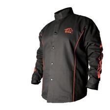 Black Stallion BSX BX9C 9oz. FR Welding Jacket Black W/ Red Flames, XL