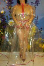 Adult Baby Sissy Kleid Zofe PLASTIK SCHWERES DICKES PVC TRANSPARENT GLANZ XXL