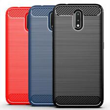 For Nokia 2.3 Ultra Slim Carbon Fiber TPU Shockproof Rugged Back Case Cover